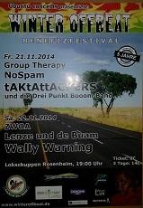 Winter Offbeat Benefizfestival 21.11.2014 & 22.11.2014 Rosenheim Lokschuppen
