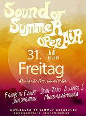 Sound of Summer Open Air am 31 Juli 2015 in Steinhöring